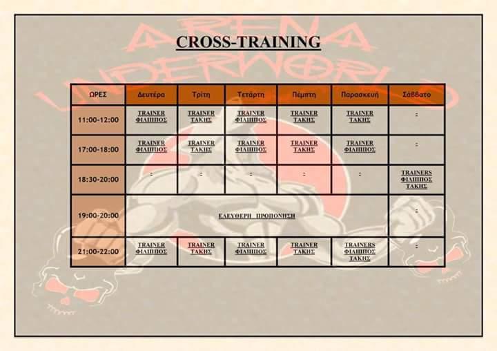 Πρόγραμμα Cross Train